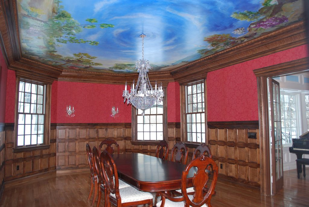 Captivating Dining Room Mural Photos Ideas House Design